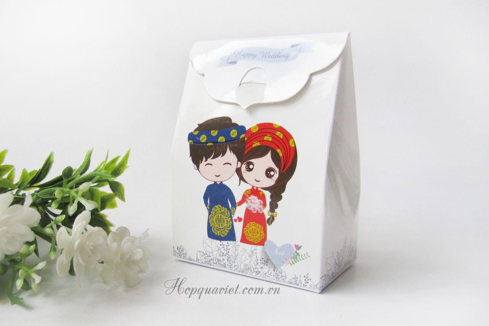 Hộp quà cưới dâu rể 19X