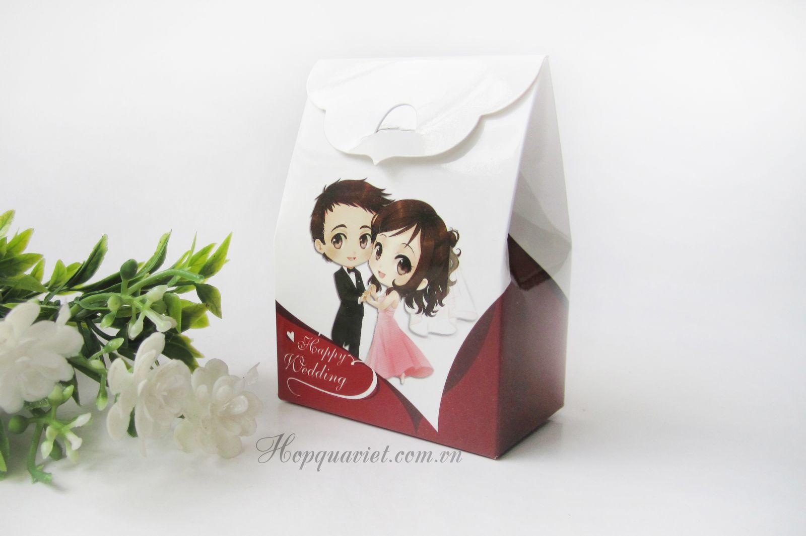 Hộp quà cưới dâu rể 19D