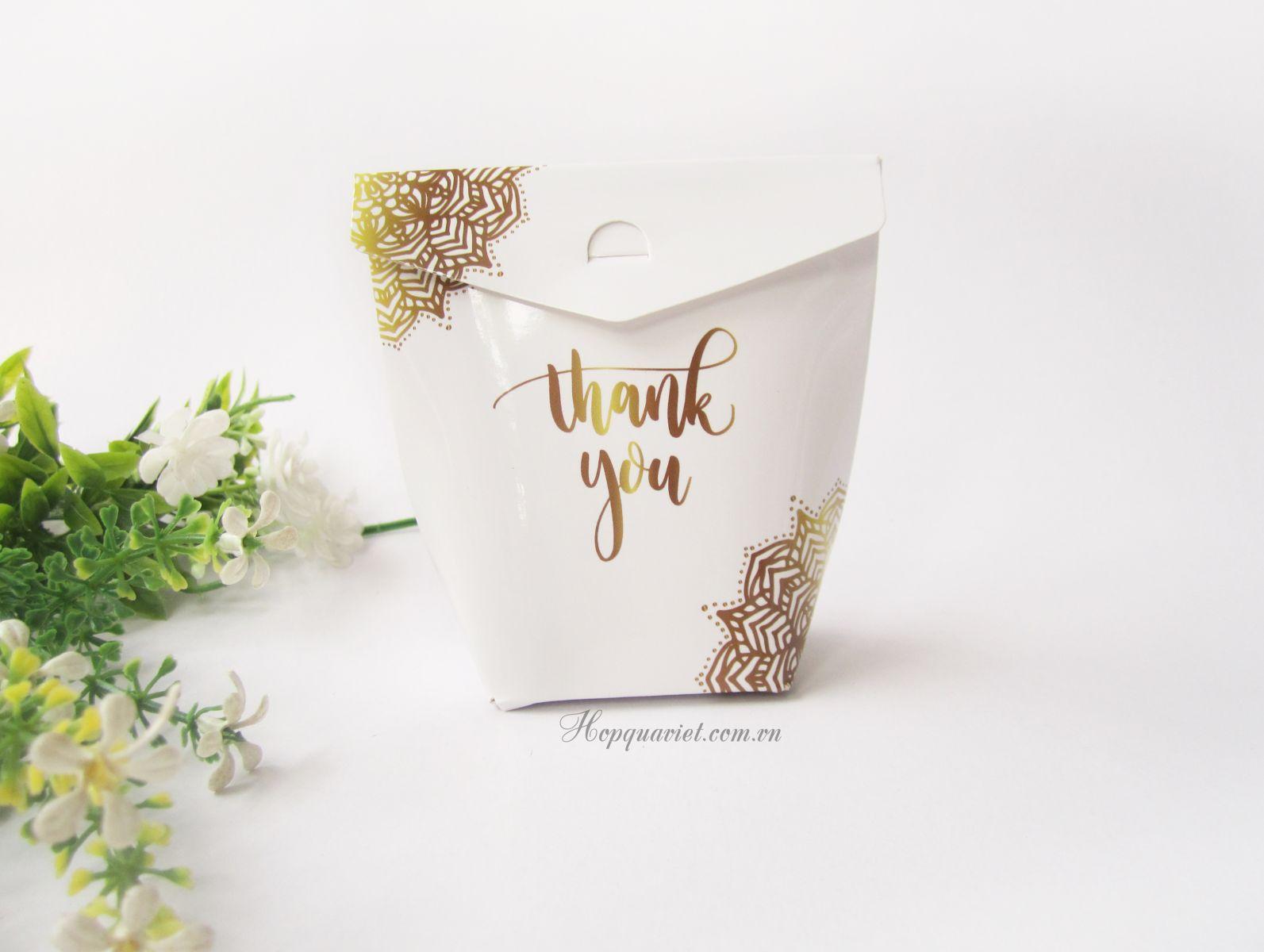 Hộp quà cưới thank you 17V