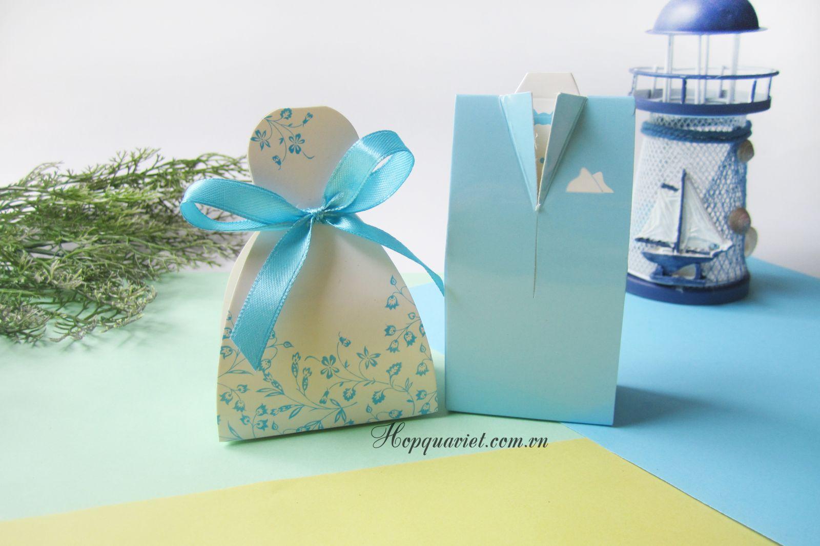 Hộp quà cưới cô dâu-chú rể 4X