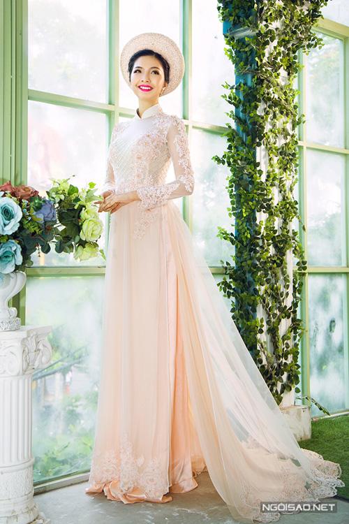 3 mẫu áo dài cưới màu pastel đẹp thanh thoát