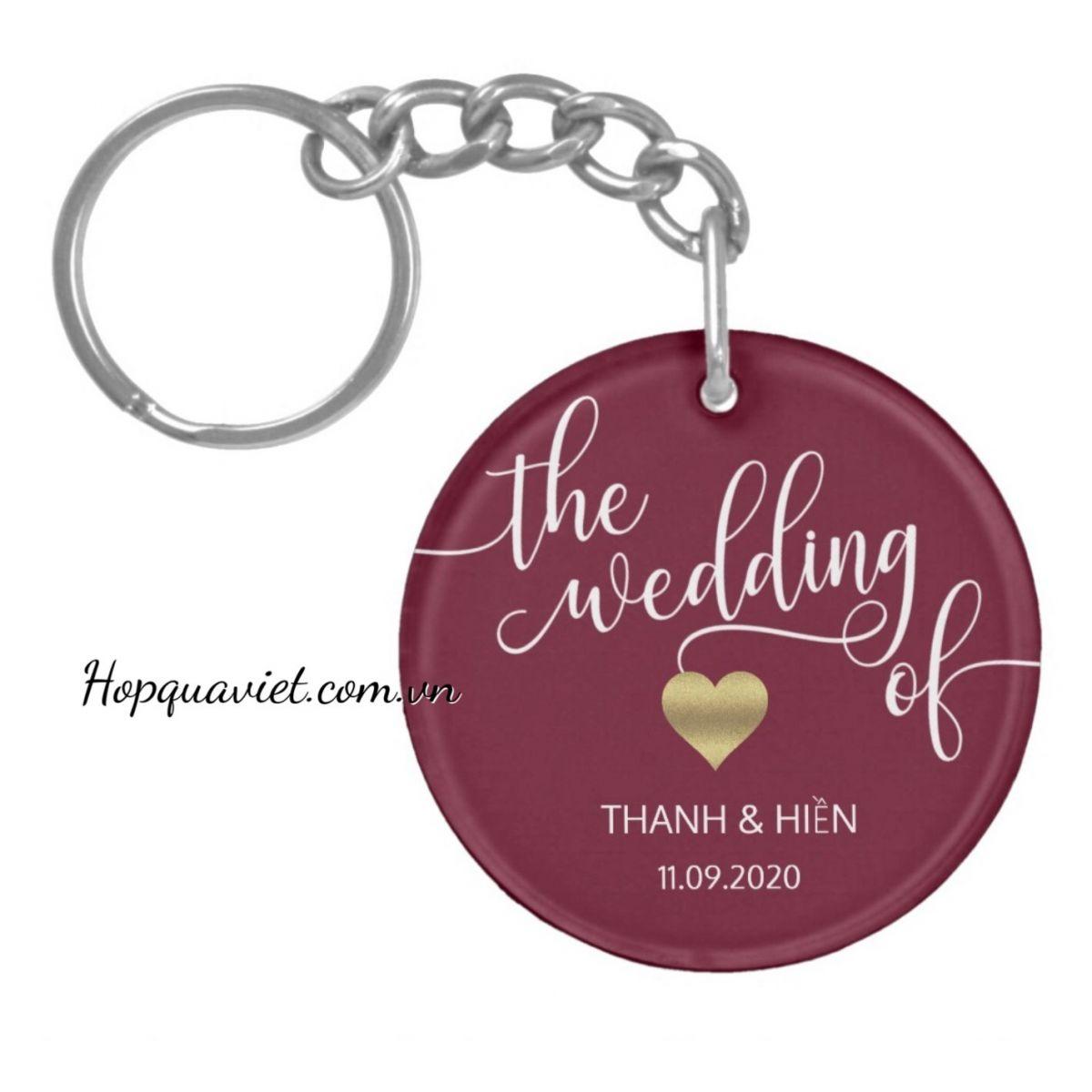 Quà cưới móc khoá thiết kế theo yêu cầu