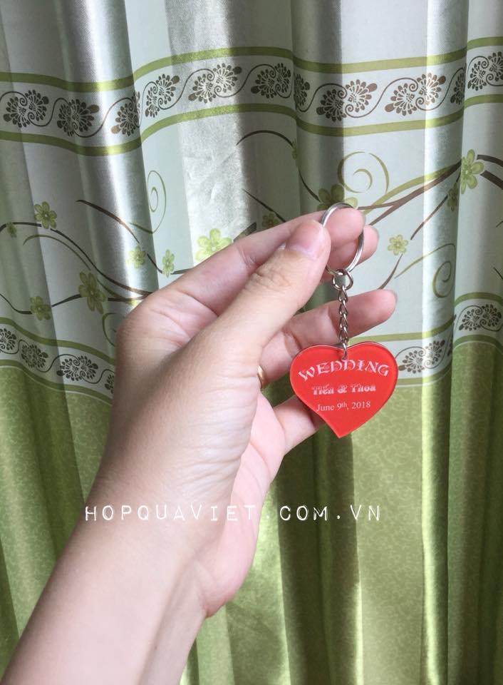 Móc khóa trái tim thiết kế theo yêu cầu