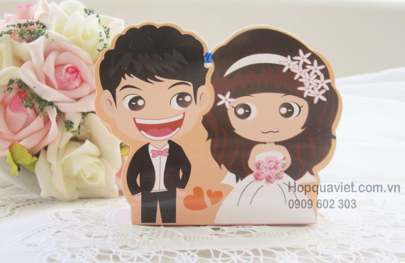 Hộp quà cưới cô dâu-chú rể đáng yêu 13V (chỉ còn 100 hộp)