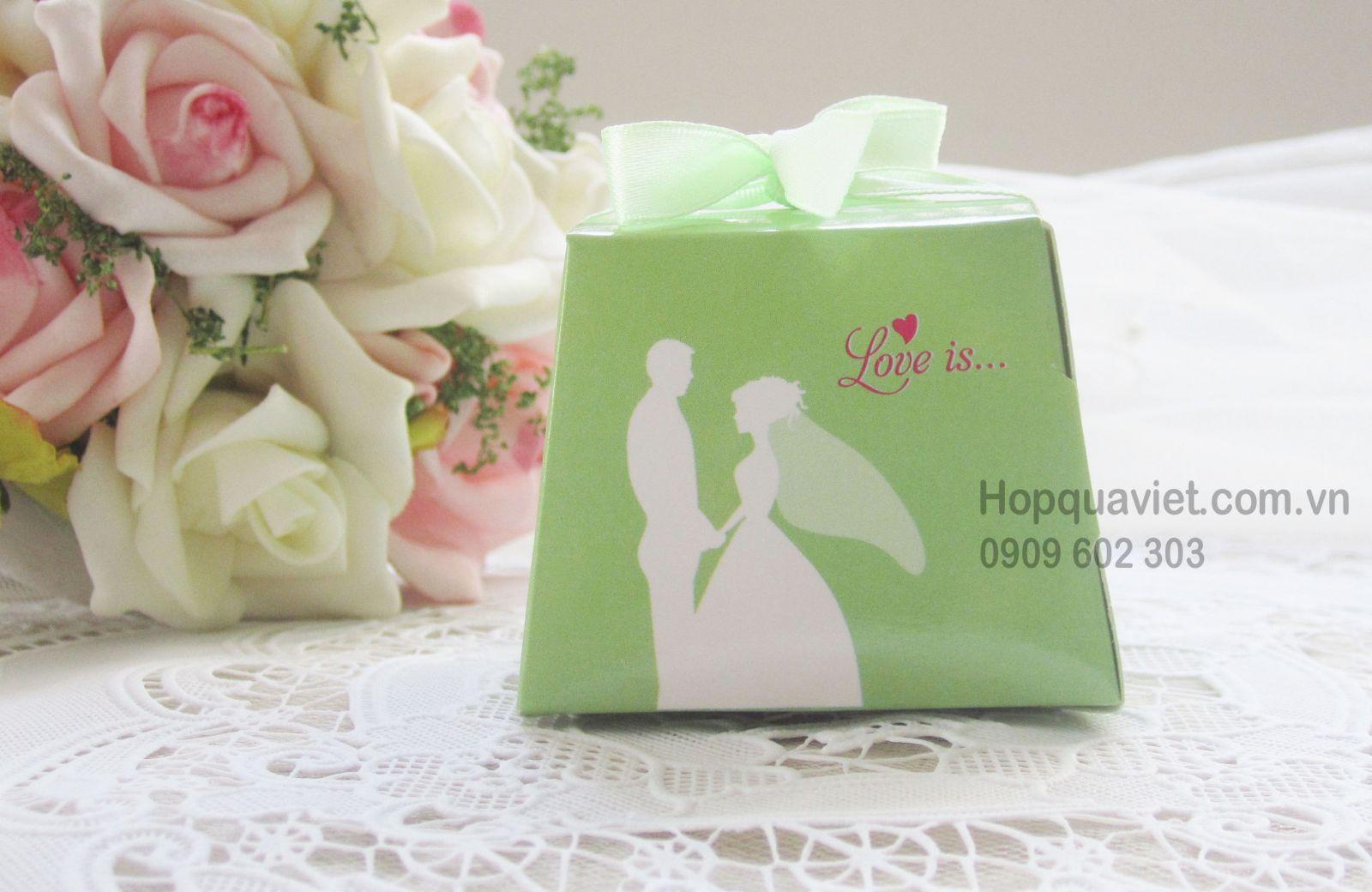 Hộp quà cưới xanh ngoc 10X