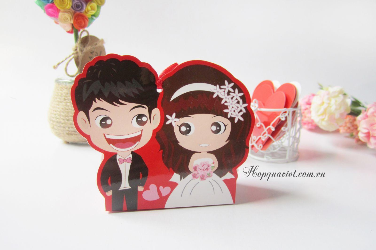 Hộp quà cưới cô dâu-chú rể đáng yêu 13D